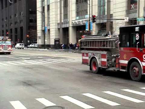 Chicago Firefighter Motorcade