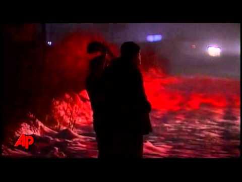 Raw Video: Passengers Escape Fire on Bus