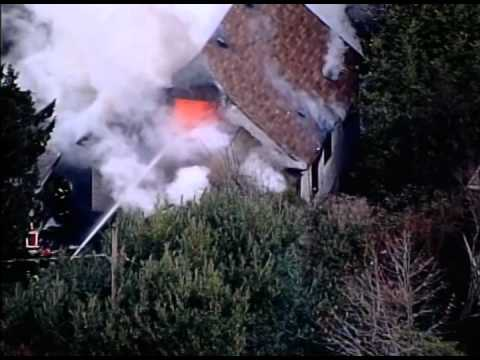 Seattle House Fire Aerial View