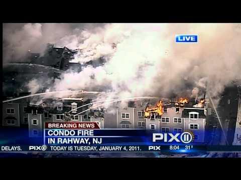 Massive Condo Fire in Rahway, NJ
