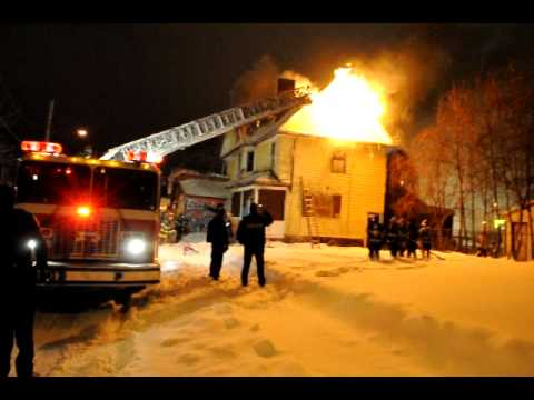 RFD 2ND Alarm Fire N. Clinton Ave. 1-12-11