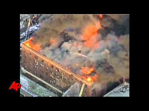 Raw Video: 5-Alarm Philadelphia Apartment Fire