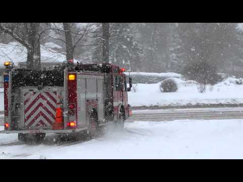 Brighton NY Firefighters responding for a mva 1/12/11