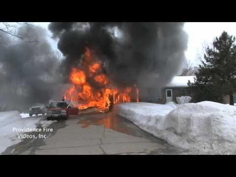First-Due: Burrillville (RI) Garage Explosion, Fire