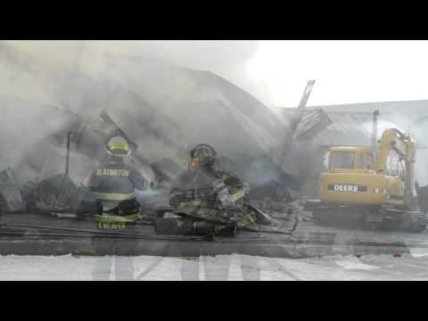 Lehigh Township Barn Fire 2-13-11