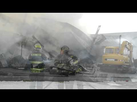 Lehigh Township Barn Fire 2-13-11