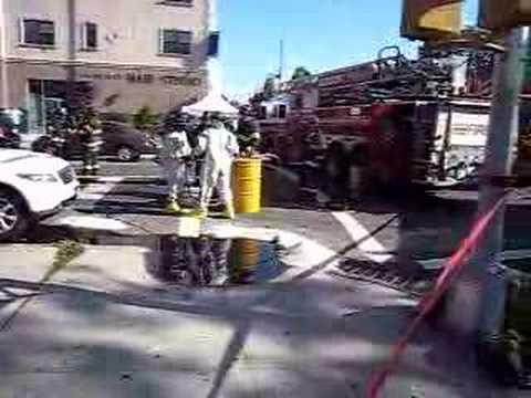 FDNY Hazardous Materials Company 1 on the scene of a job