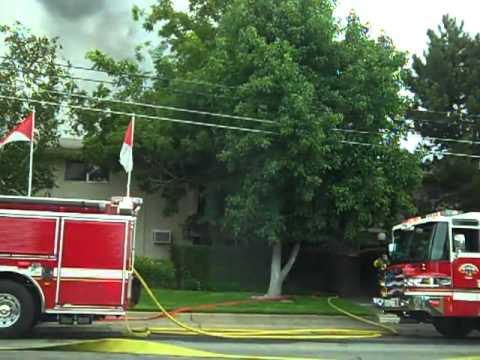 El Camino Apartment Fire with Rescue