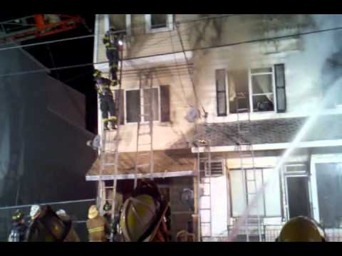 Firefighter Rescue During Girardville (PA) Fire