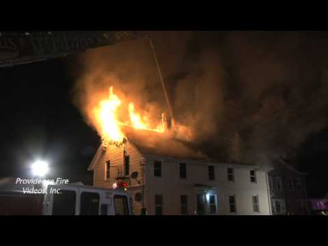 3 alarm fire in Central Falls, RI
