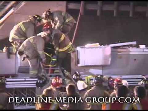 Raw Video: San Antonio Ladder Truck Crash