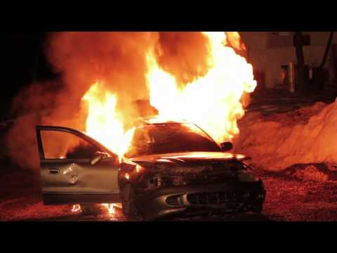 Ulster County Firefighter 1 Class Car Fire Training.mov