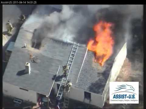 Concord (NH) Structure Fire, Overhead