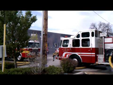 Fire Burns SLC Furniture Warehouse