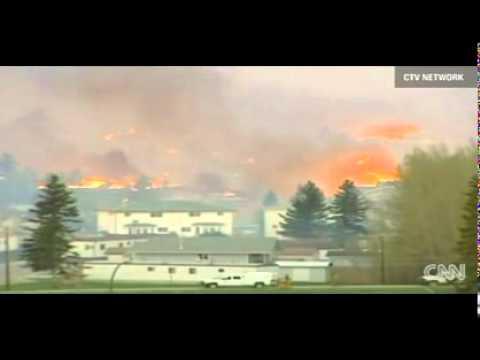 Massive Wildfire Burns Alberta Town