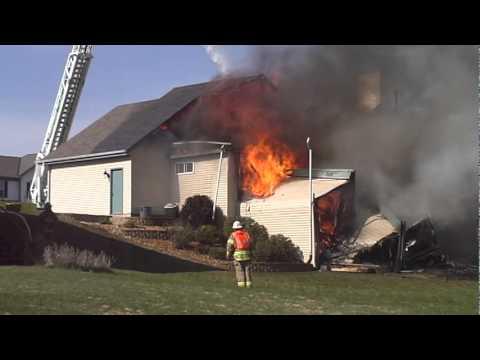 House Fire in Oconomowoc WI - 10/16/2010