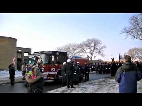 Chicago Firefighter Funeral, Edward Stringer, Engine CO. 63, 12/28/10 #2