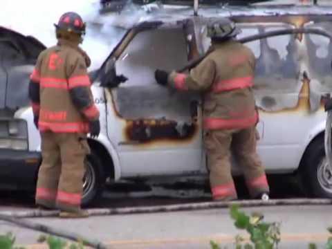 Close Call Magnesium Explosion Car Fire