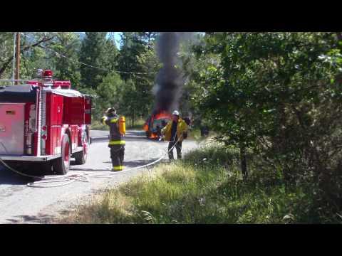 QUESTIONABLE TACTICS- Vehicle Fire: Josephine County, Oregon