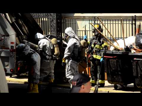 FDNY HAZMAT Company No. 1 responds to incident at a high school in Brooklyn