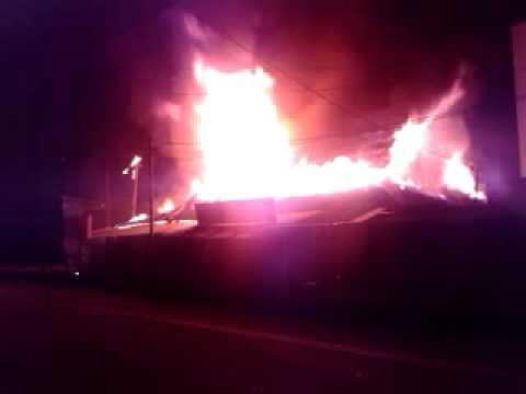 Wooden Shop Houses Fire, Involved Five Units, Kedah, Malaysia