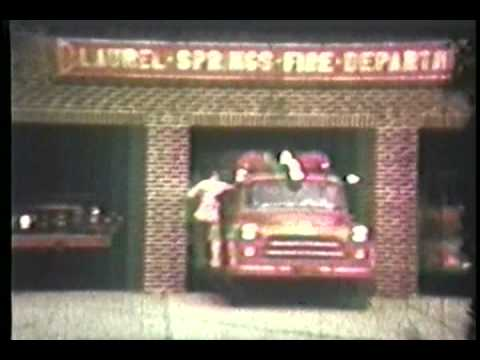 Vintage Laurel Springs Fire Department 1959 Working Fire Drill