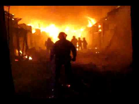 Fire in Koke park, Rancagua, Chile