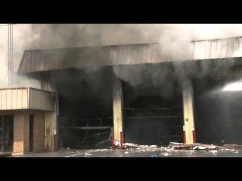 Fire station burns in Pennsylvania