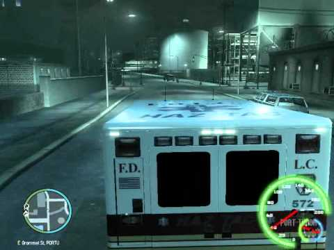 Liberty City Fire Department Haz-Tac Ambulance 69 Responding To Chemical Burns