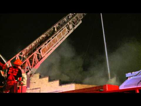Philly 3rd alarm fire July 3, 2012