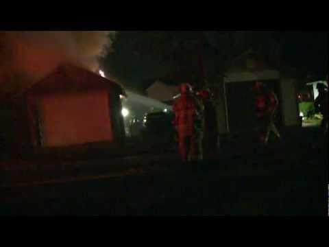 Garage fire in Whitehall, PA