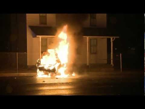 Pre-Arrival Video of Fatal Fiery car crash in Whitehall, PA