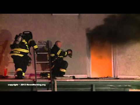 5 Allentown FFs hurt ~ video with fireground audio