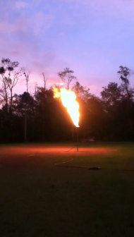 10,000 gal propane burn off