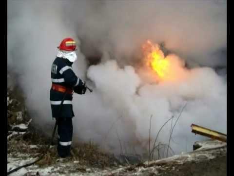 Pompierii români - interventie  in situații de urgenta