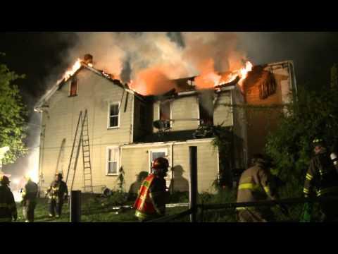 Easton PA Firefighters Battle House Fire on Wilkes-Barre Street | Working Fire