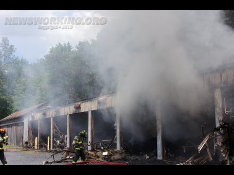 Garages destroyed by 2nd Alarm fire in Walnutport, Pa. | 08.17.13