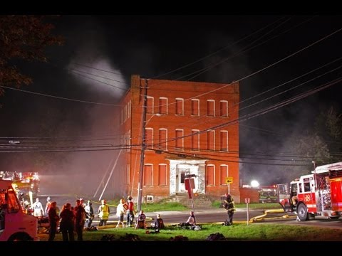Old cigar factory burns in 3 alarm fire | Sellersville, PA