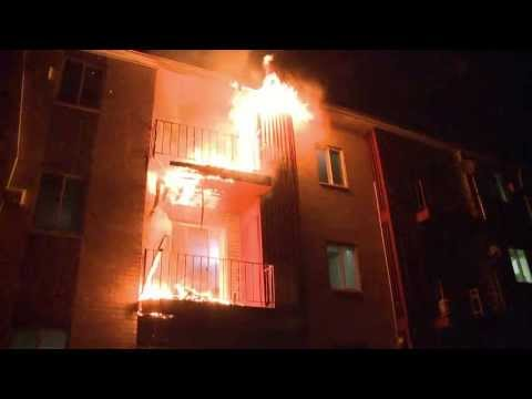 Pre-Arrival Video: Apartment building fire in Whitehall, PA