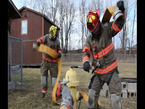 Happy Firefighter West Corners Fire