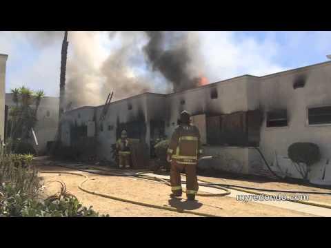 Firefighters Battle Practice Blaze in Redondo Beach
