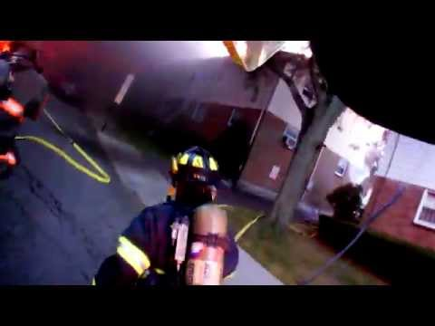 Working Building Fire - Helmet Cam