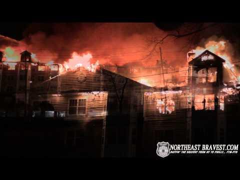 EDGEWATER, NJ AVALON APARTMENT BUILDING FIRE