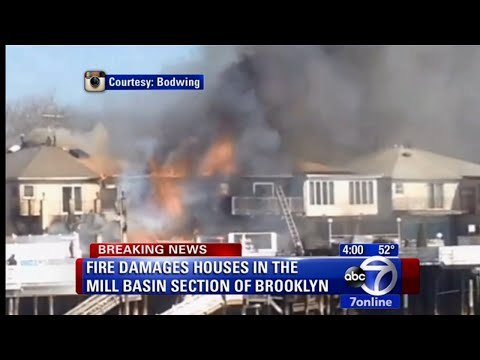 Four-Alarm Fire in Brooklyn Damages Several Homes