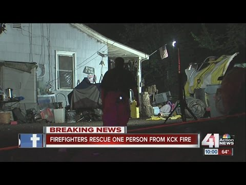 Rescue at Kansas City House Fire