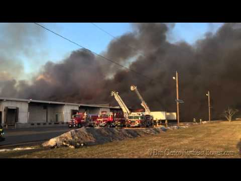 HILLSBOROUGH, NJ MULTIPLE ALARM WAREHOUSE FIRE