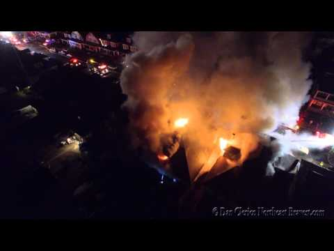"""DRONE VIDEO"" WILSON BOROUGH, PA MULTIPLE ALARM HOUSE FIRE"