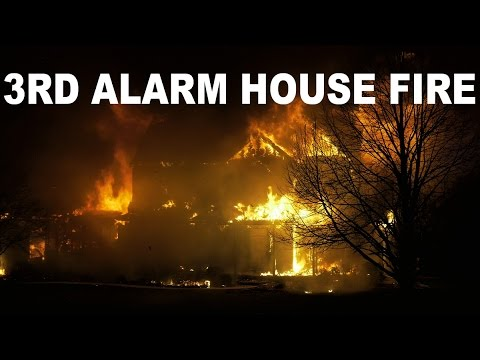 3rd Alarm House Fire in very windy conditions | 04/01/16
