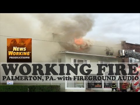Building Fire with Fireground Audio Palmerton, PA | 05/15/16