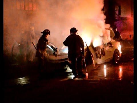 Buffalo FD Eastside Auto Fires - 1st Platoon - 9-8-2016